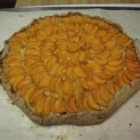 Apricot Almond Galette - Fresh apricots are baked with a delicious almond paste. Store-bought pie crust makes this elegant dessert extra easy.