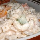 Macaroni Salad I - A simple, straightforward mix of crispy cucumber, sweet bell peppers, juicy tomatoes and zingy onions get tossed around with macaroni, then bathed with a creamy dressing for a delightful picnic salad.