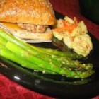 Orange-Glazed Asparagus - Asparagus cooked in a skillet and topped with a fragrant glaze. Great with Cornish hens.