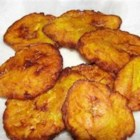 Tostones (Fried Plantains) - A Puerto Rican side, usually served with rice and beans in our family.