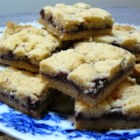 Czechoslovakian Cookies - These bar cookies are made with a not-too-sweet pecan shortbread spiced with cardamom, with a jam filling. They're perfect with coffee or tea.