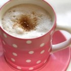 Vanilla Latte - This is an easy espresso drink to make with your home espresso machine--steamed milk and a shot of espresso with vanilla flavoring.