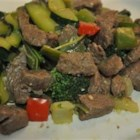 Kangaroo Stir Fry - Kangaroo is a good rich meat that works perfectly in stir-fry dishes, but any game meat would do such as deer or camel.