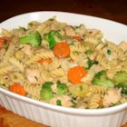 Linguine with Chicken and Sauteed Vegetables - I've been making this recipe for a long time and I usually don't make it the same way twice.  I like to use cabbage, shredded carrots, broccoli, cauliflower and green onions.