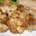 Tarragon Stuffing - A light and tangy stuffing. This recipe makes enough to stuff one 14 pound turkey with leftovers to bake on the side. Originally submitted to ThanksgivingRecipe.com.