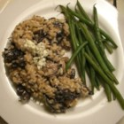 Gorgonzola and Wild Mushroom Risotto - This savory, well balanced risotto with dried chanterelles and Gorgonzola cheese works well as a main course.