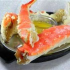Garlic Crab Legs - Garlicky crab legs with corn on the cob.