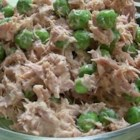 Tuna Fish Pea Salad - Tuna, canned peas, a little mayonnaise, and a couple of seasonings are all you need to make this super-easy salad.