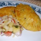 Jamaican Beef Patties - These are delicious curry-flavored beef pastries that can be found in Jamaica and other Caribbean islands. Try serving them with some Peas and Rice, or just have them as a snack.