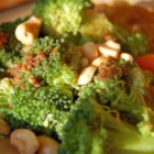 Broccoli with Garlic Butter and Cashews - A new recipe a neighbor gave us. What a hit with my family. Just the right mixture of garlic and cashews with our favorite side dish, broccoli. And, so very easy to make!! If in a pinch, you could probably use frozen broccoli too, but I haven't tried.