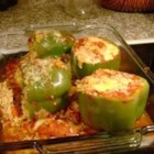 Susie's Stuffies - Stuffed peppers are a great way to use leftover rice.  In this recipe green bell peppers are stuffed with a mixture of rice, celery, onion, herbs and 2 cheeses.