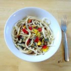 Asian Noodles - For an exotic, earthy flavor add sliced shiitake mushrooms and bell peppers to a pot of boiling capellini. Toss the warm noodles with a sauce of rice wine vinegar, soy, oil and grated ginger and sprinkle with parsley to serve.