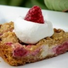 Raspberry Sour Cream Pie - A must-have for the raspberry lover. I get rave reviews every time I serve this. And because you can use frozen or fresh raspberries, you can enjoy it all year! This recipe makes 2 pies.