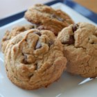 Chewy Peanut Butter Chocolate Chip Cookies - The cookies from this recipe blending peanut butter and chocolate chip cookie recipes are really chewy and addictive.