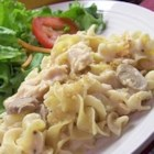 Chicken Tetrazzini - An Italian feast, this dish pairs earthy mushrooms with a nutty Swiss cheese cream sauce to blanket pasta, chicken and bell peppers.