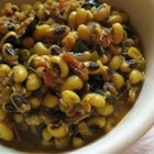 Black-Eyed Peas Spicy Style - A spicy twist on black-eyed peas.