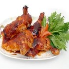 Korean Chicken - Chicken simmered in a potent soy and sesame blend.