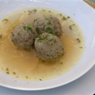 Liver Dumplings - This was my dad's way of making sure we got our weekly dose of liver. Most of the time he added it to soup, but once in a while he ladled it over noodles and fried onions. Ground liver is mixed with seasoned bread crumbs, and dropped into boiling broth.