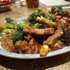 Broccoli Beef II - A wonderful dish to make at home and it tastes like take-out. Beef strips are quickly marinated and sauteed then with broccoli and mushrooms in a rich sauce.