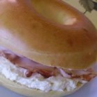 Ham Bagels With Honey Mustard Cream Cheese