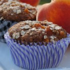 Spiced Peach Oatmeal Muffins - These sweet and tender muffins are the perfect choice for a summer brunch.