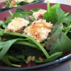 Spinach Salad with Baked Goat Cheese - This is a wonderful way to add elegance and flavor to spinach. The warm goat cheese melts in your mouth and nicely accents the balsamic vinegar.