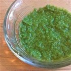 Keen Green Veggie Puree - This makes delicious baby food for older babies, or sneak it in your raw pasta sauces, burgers, or meatloaf to hide an extra dose of green veggies in your family's diet!