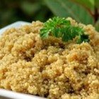 Quinoa with Asian Flavors - Here's an Asian twist to making quinoa. What a little ginger, garlic, and soy sauce can do to update your favorite side dish!
