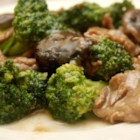 Best Beef and Broccoli - Sliced round steak is simmered with onions and broccoli in a broccoli soup and soy sauce mixture. Great over rice or egg noodles