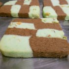 Pistachio Chocolate Checkers - The combination of chocolate and pistachio in these checkered cookies is irresistible.
