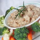 White Bean Spread With Garlic & Rosemary - This spread made with canned white beans mashed with pan-fried fresh rosemary and garlic takes only a few minutes to prepare, and can be refrigerated for up to two weeks.