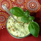 Zucchini Salad with Yogurt and Walnuts - This simple salad combines cooked, grated zucchini with yogurt and walnuts.