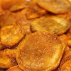 Cinnamon Sweet Potato Chips - These chips use sweet potatoes and are baked, as opposed to fried.  Delicious as a  side item for sandwiches or simply as a snack.