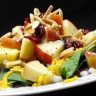 Super Seven Spinach Salad - Baby spinach, Cheddar, and chopped Fuji apple star in this easy spinach salad recipe.