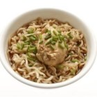 Angela's Oriental Chicken Noodle Soup - Chicken-flavored ramen noodles are simmered with cooked chicken, bok choy and carrots in this quick soup seasoned with a hint of sesame oil.