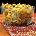 Grandma Jensen's Nuts and Bolts - Garlic powder and Worcestershire sauce flavor this common holiday snack mix.