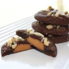Caramel Filled Chocolate Cookies - Chocolate cookie dough is wrapped  around caramel filled chocolate candies. We have these at Christmas time each year.  They are delicious!  Hope you enjoy them too.