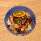Sweet Orange Chicken II - Chicken is simmered until tender in a sweet orange and cranberry sauce. Pure delicious chicken, made with ingredients usually in your home.