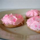 Pink Icing Cookies - My Granny's cake-like cookies that tasted best with pink icing...although she did use other colors.