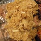 Jamaican Rice - Authentic Jamaican rice. This adds a sweet, vegetarian complement to spicy dishes!