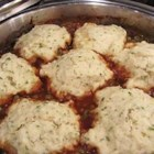 Mom's Simple Dumplings - This recipe is for dumpling dough to be dropped on top of stew as it simmers.