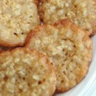 Oatmeal Lace Cookies - My mom used to make these - they were our favorites!   They are very crisp, and tend to shatter when you bite into them.   Watch them carefully while baking since they do tend to burn quickly.