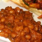 Boston Baked Beans - This recipe for Boston baked beans uses navy beans, molasses, brown sugar, and ketchup to create a wonderful old-fashioned baked bean flavor.