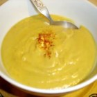 Spiced Parsnip Soup - Yummy simple soup without too much heat, excellent for a wintry starter to a dinner party. The spice works wonderfully with the sweetness of the parsnips. Serve with crusty white bread and butter.