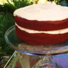 Red Velvet Cake V - A beautiful red Bundt cake to grace your Holiday table. Frost with cream cheese frosting and sprinkle with nuts if desired.