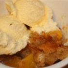 Best Peach Cobbler Ever - This easy cobbler is made with sliced peaches topped with a lightly spiced batter.