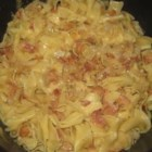 Cabbage and Noodles - Cabbage and noodles, cooked with bacon, is comfort food supreme, great for a chilly day.