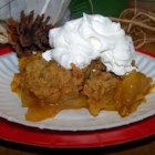 Pumpkin Apple Cobbler - This recipe is a great twist on the standard apple cobbler. It is really easy to put together. It is so delicious you may want to double it to use the whole bread mix, and make it in a 9x13 inch pan.