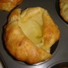 Grandma's Yorkshire Pudding - These are delicious Yorkies! Very easy too! Serve with roast beef or pork, as this recipe requires meat drippings.