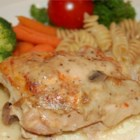Chicken Delicious - Baked in the slow cooker, chicken lounges in a quick, creamy sherry sauce.